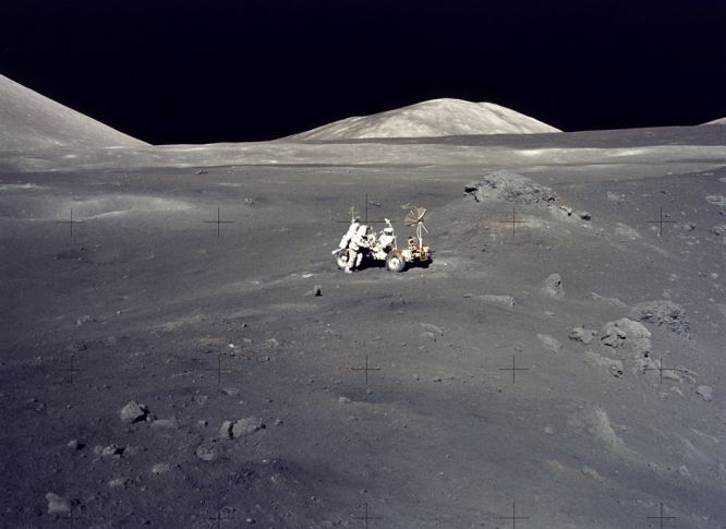 Apollo 17 Lunarscape: A Magnificent Desolation