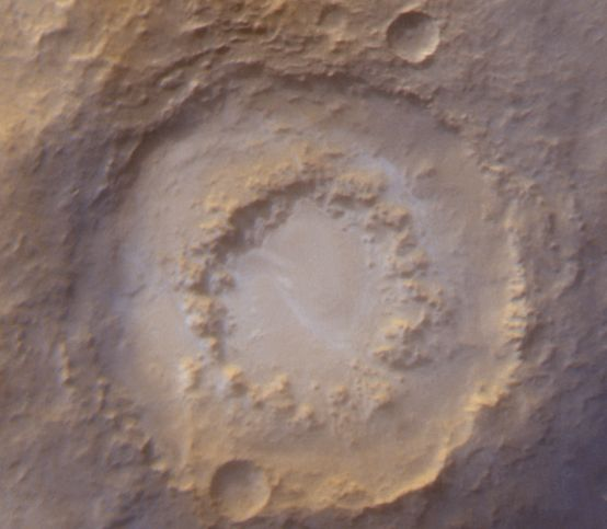 A Frosty Crater On Mars