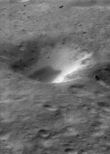 A Two Toned Crater on Asteroid Eros