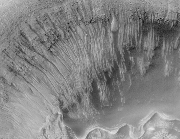 Newton Crater: Evidence for Recent Water on Mars