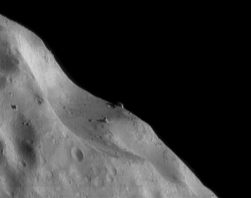 Eros Craters And Boulders