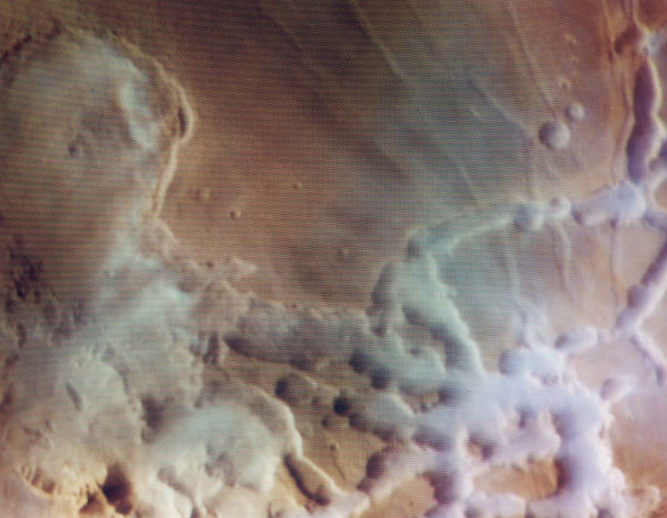 Colorful Water Clouds Over Mars