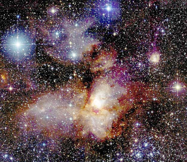 Star-Forming Region RCW38 from 2MASS