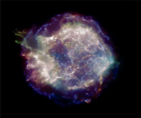 Cas A Supernova Remnant in X Rays
