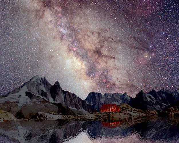 The Milky Way Over Mount Blanc