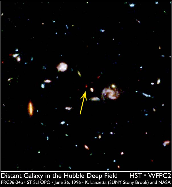 A Distant Galaxy in the Deep Field