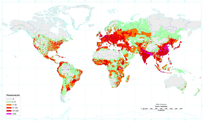 Where People Live on Planet Earth