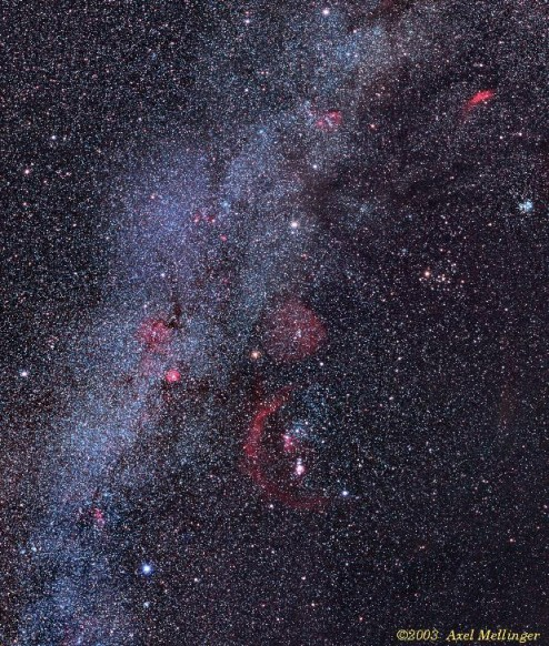 Clusters and Nebulae of the Hexagon