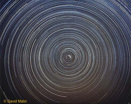 Star Trails in Northern Skies