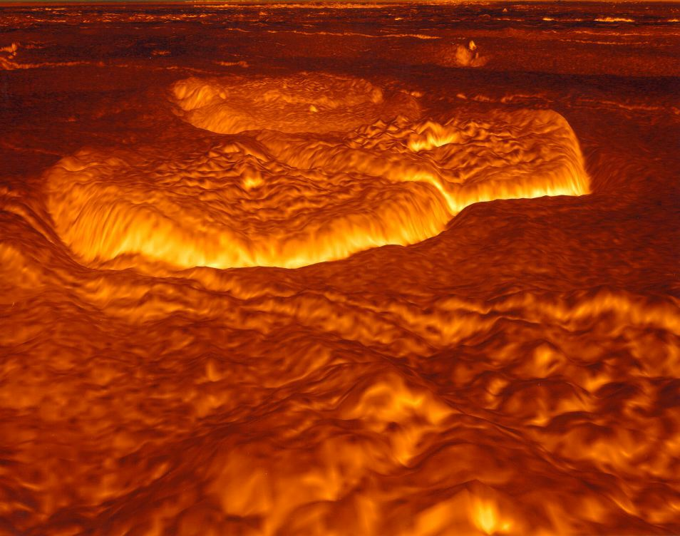 Venus Once Molten Surface