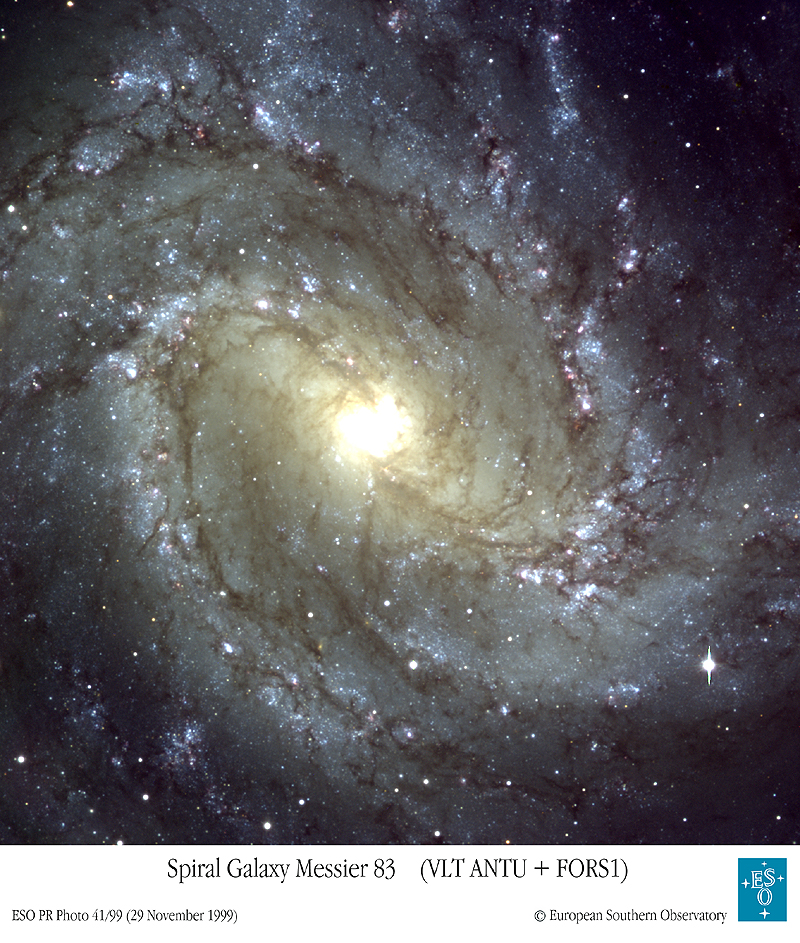 M83: The Southern Pinwheel Galaxy from VLT