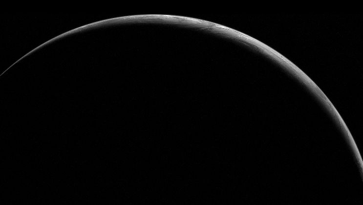 A Crescent Earth at Midnight