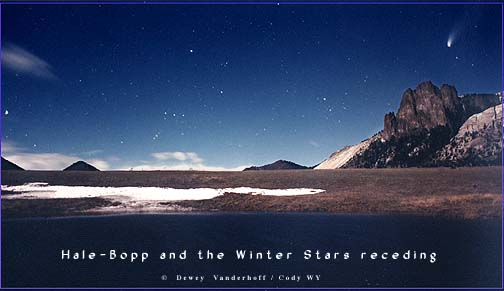 Hale-Bopp and Orion