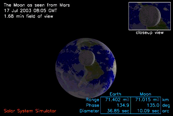 Mars  Simulated View