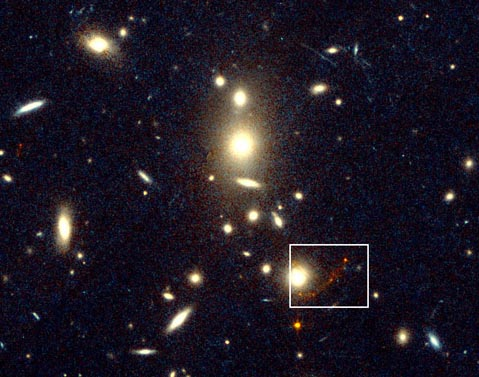 Behind CL1358+62: A New Farthest Object