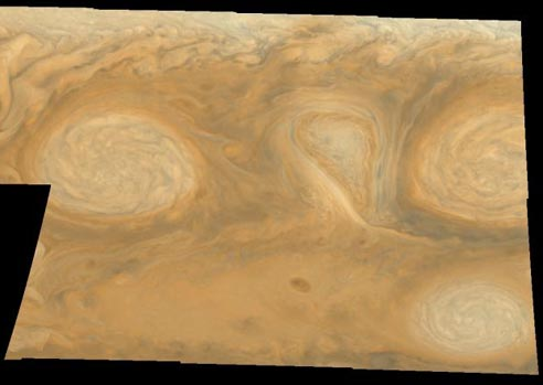 White Oval Clouds on Jupiter