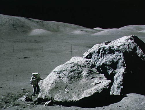 Apollo 17: Boulder on the Moon