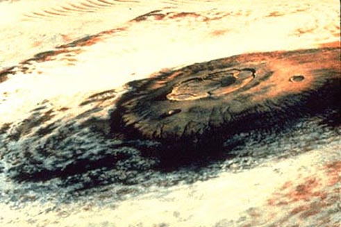 Olympus Mons on Mars: The Largest Volcano