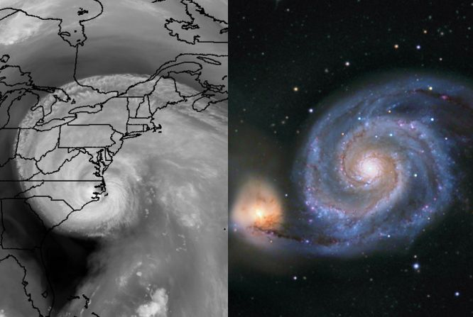 Logarithmic Spirals Isabel and M51