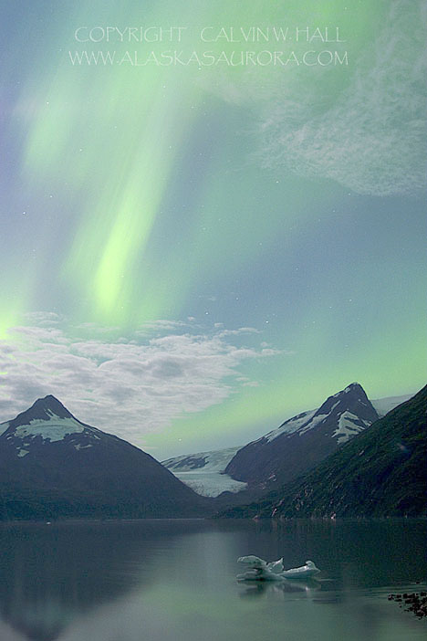Aurora Over the Chugach Mountains