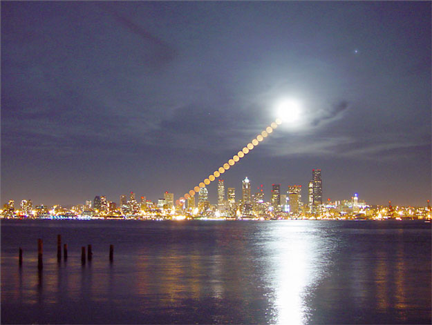 Moonrise Over Seattle