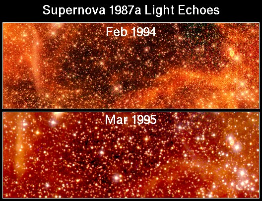 Moving Echoes Around SN 1987A