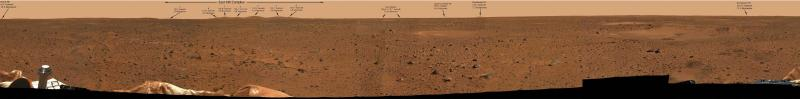 A Mars Panorama from the Spirit Rover