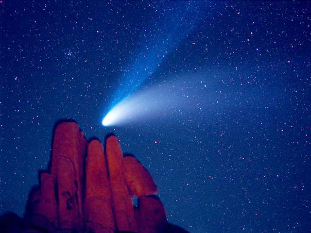 Comet Hale Bopp Over Indian Cove
