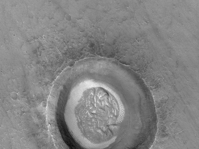 Brain Crater on Mars