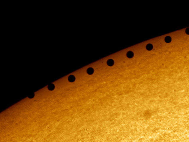 A Planet Transits the Sun