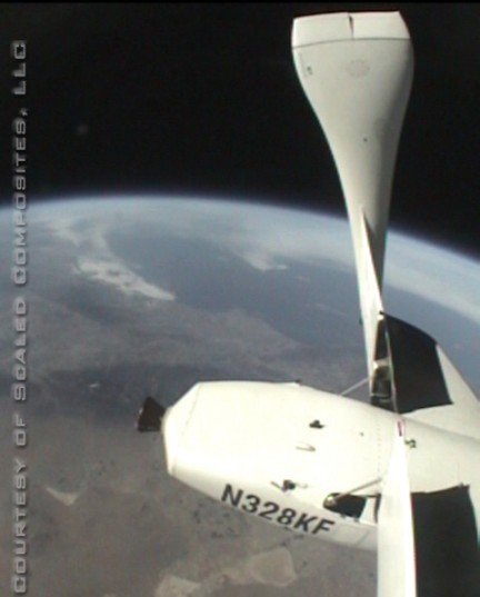 Planet Earth from SpaceShipOne
