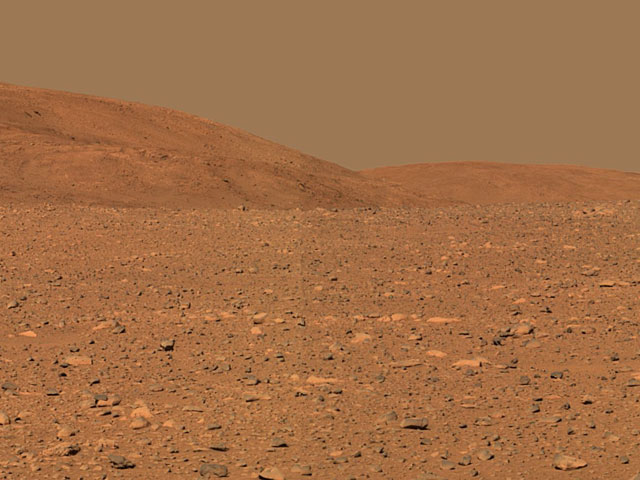 Spirit Rover Reaches the Columbia Hills on Mars