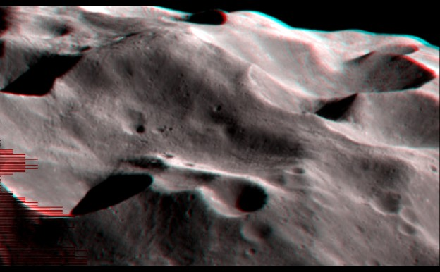 Phoebe Craters in Stereo