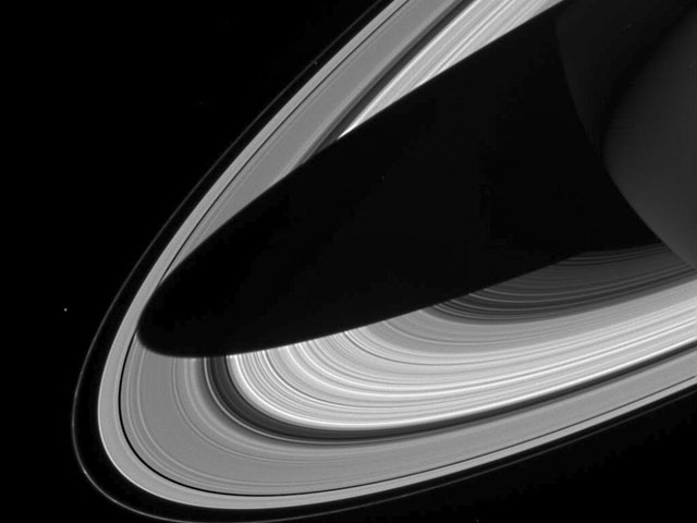 A Shadow on the Rings of Saturn