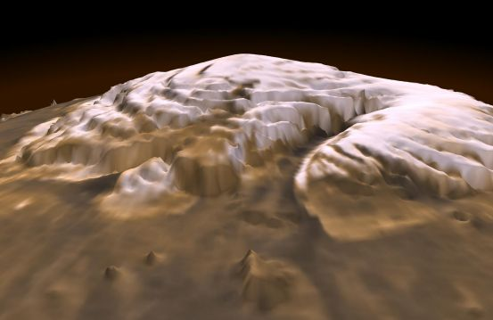 3-D Mars North Pole