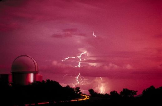 Telescope with Lightning