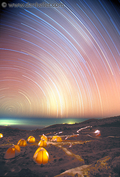 The Star Trails of Kilimanjaro