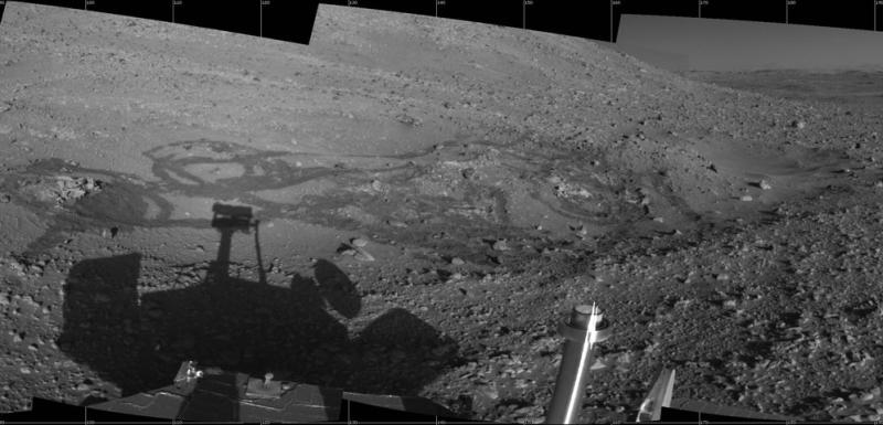 Spirit Rover at Engineering Flats on Mars