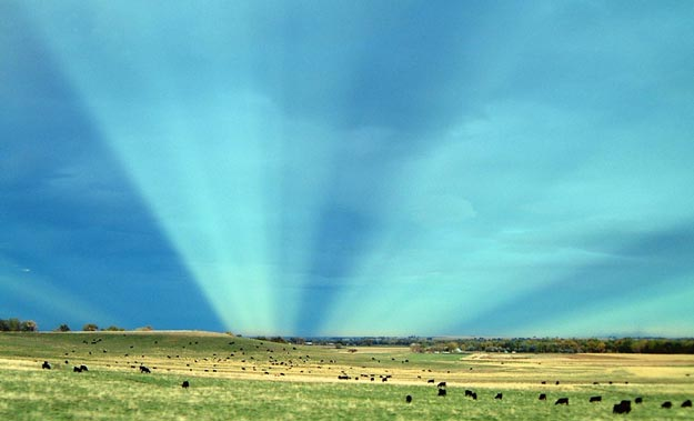 Anticrepuscular Rays Over Colorado