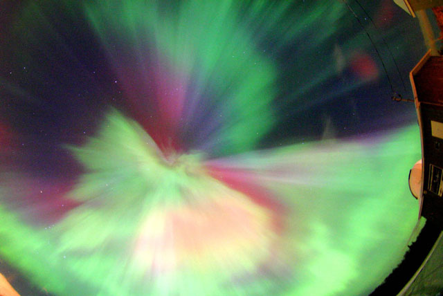 A Full Sky Multi Colored Auroral Corona