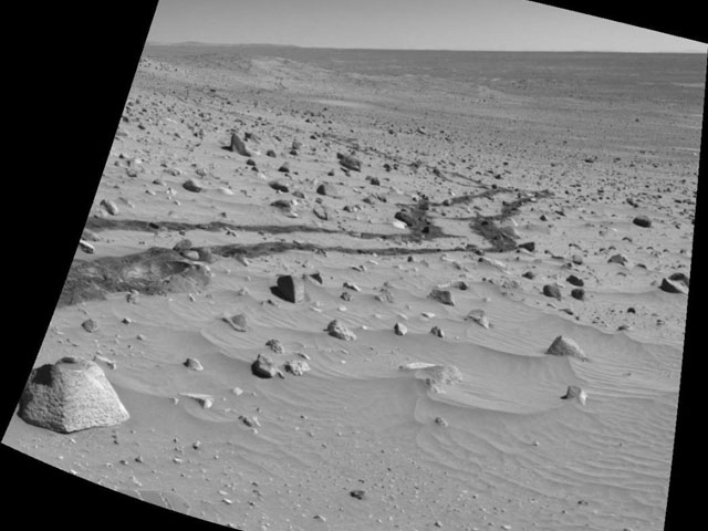 Looking Back Over Mars
