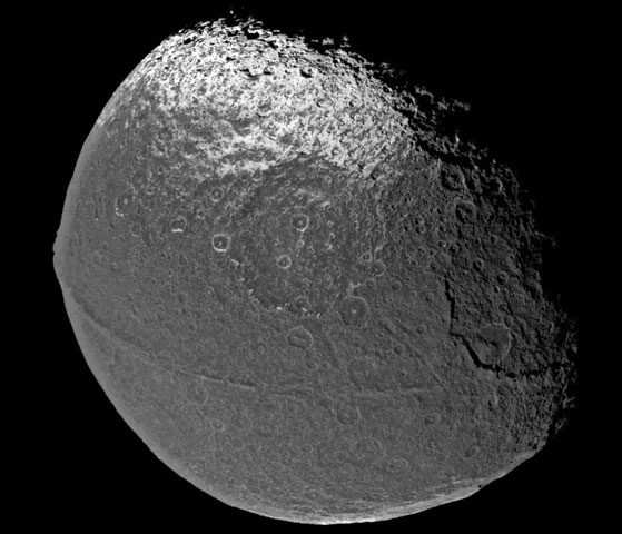 Saturns Iapetus: Moon with a Strange Surface