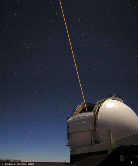 A Telescope Laser Creates an Artificial Star