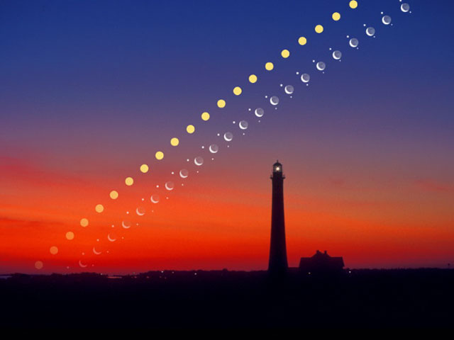 Solar System Rising Over Fire Island