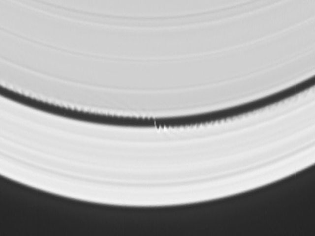 A Wavemaker Moon in Saturns Rings