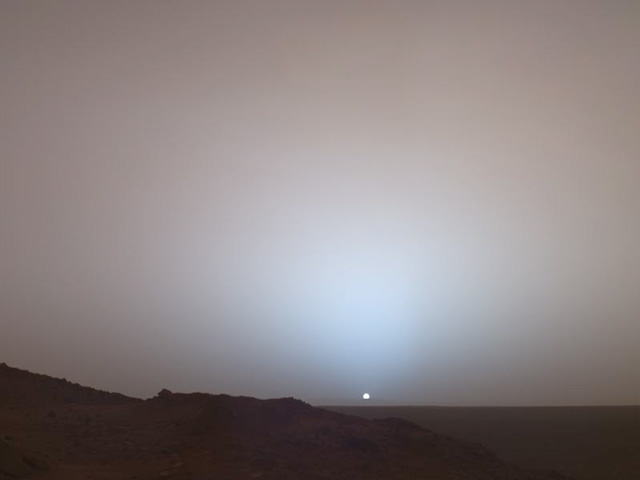 Sunset Over Gusev Crater