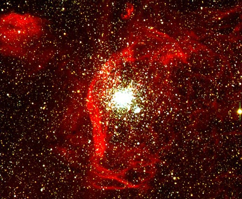 NGC 1850: Gas Clouds and Star Clusters