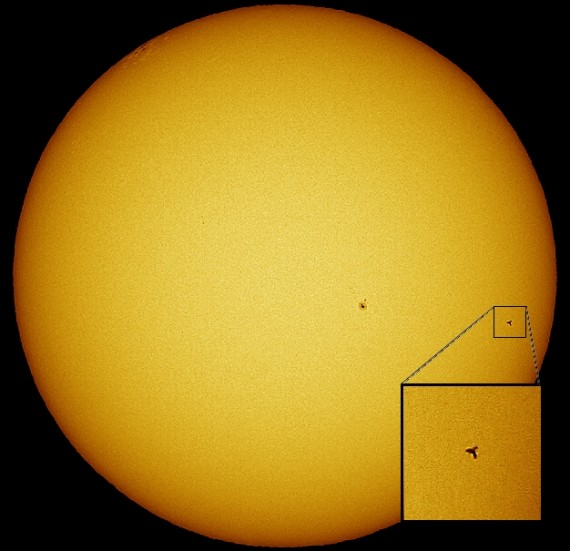 ISS and Discovery Transit the Sun