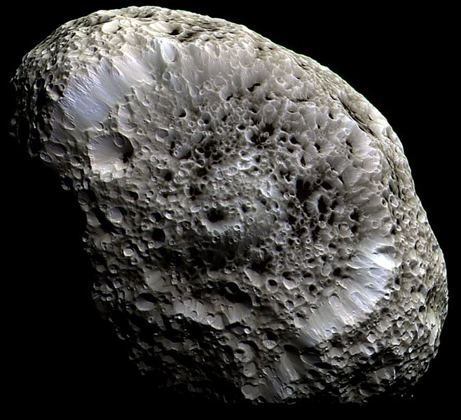 Saturns Hyperion: A Moon with Odd Craters