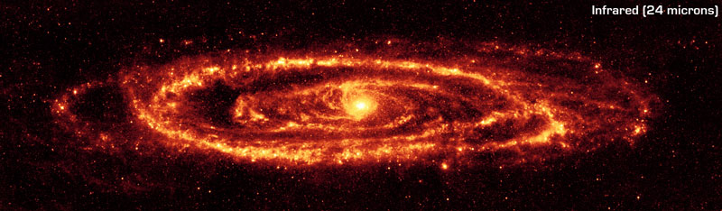 The Andromeda Galaxy in Infrared